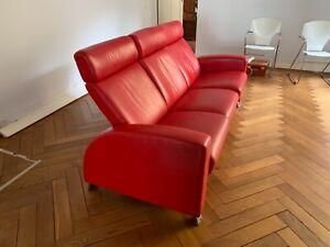 stressless sofa Arion 3-sitzer Leder Rot, gebraucht, guter Zustand