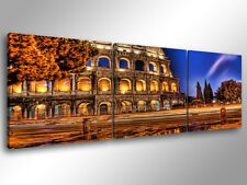 Quadro Moderno 3 pz. ROMA COLOSSEO 2 - cm 150x50 arredamento stampa su tela