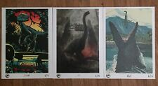 3 LIMITED EDITION JURASSIC WORLD OFFICIAL UK A3 POSTERS 1/2/4 JURASSIC PARK NEW