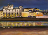 Tavira - Canvas Print of Acrylic Landscape Painting 30x20cm on box canvas signed