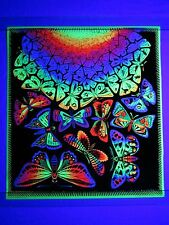 Vintage Psychedelic Blacklight Poster BUTTERFLIES BUTTERFLY MC Escher HIP Prod.