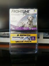 Frontline Plus Flea & Tick Control for medium Dogs 45-88 lbs, 8 Doses Box New