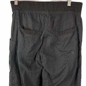 Lululemon Mens Seawall Track Pant Black Striped Lined Size Medium (waist 29-30)