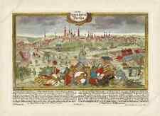 BERLIN BEROLINUM old antique antike panorama plan view map 1720 art poster print