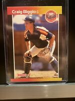 🥎 1989 Donruss Craig Biggio Rookie Card #561 ERROR No Period After INC Rare