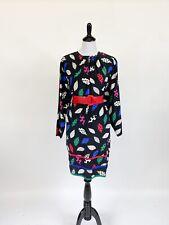 Fresh! VTG 1980s Miss O Oscar De La Renta Colorful Dress L XL