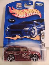 "Hot Wheels BOOM BOX #035 ""Cranberry""~2003 First Editions on VHTF Hwy 35 Card~MOC"