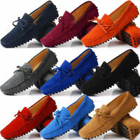 Suede Leather Mens SLIP ON loafers Shoes Moccasin men boots boat shoe Big Size