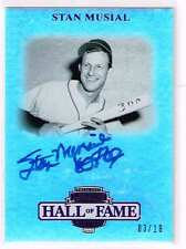 2012 PRESS PASS LEGENDS STAN MUSIAL PURPLE HALL OF FAME 69 AUTOGRAPH /18