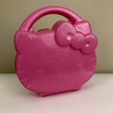 Vintage Y2K 2002 Sanrio Hello Kitty Plastic Travel Novelty Toy Case Pink