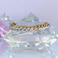 Armband 750/- Gelb/Weißgold mit 200 Diamanten 2,00 ct. Wesselton/SI - 36,4 g