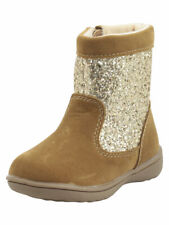 Carter's Little Girl's Brisa Brown Glitter Gold Boots Size 5, 11 NWT MSRP: 44.00