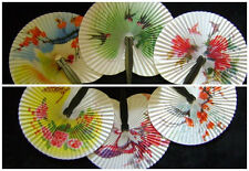 12 Chinese Oriental Hand Held Folding Paper Fans Wedding Favours Hen Night Party