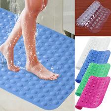 Large Foot PVC Massage Rubber Non Slip Bathroom Bath Shower Mat Strong Suction