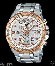 EFR-550D-7A White Casio Men's Watches Edifice Date Alarm Dual dial world time