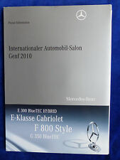 Mercedes-Benz F 800 E-Klasse G 350 F1 - Pressemappe press-kit Genf 03.2010