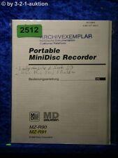 Sony Bedienungsanleitung MZ R90 / R91 Mini Disc Recorder  (#2512)