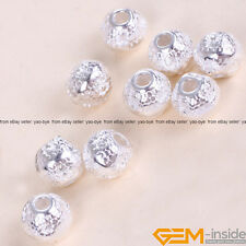 20 Pcs Tibetan Silver Round Spacer Charms Craft Findings Beads 6mm Yao-Bye