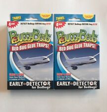 4-PACK Buggy Beds Travel Bed Bug Trap Detector Set Of 2