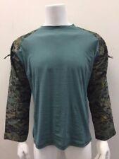 Tactical Military Combat Paintball Shirt Woodland Digital Camo/Teal 2XL