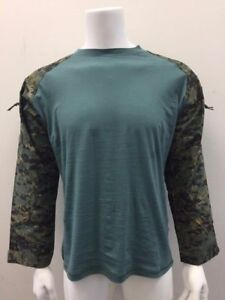 Tactical Military Combat Paintball Shirt Woodland Digital Camo/Teal 2XL