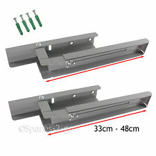 2 x HITACHI Grey Silver Microwave Brackets Wall Mounting Holder Extendable