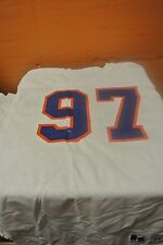 Boise State University White Game Used Football Jersey Size 44 #97