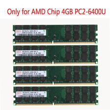 16GB 4X 4GB 2Rx4 PC2-6400U DDR2 800Mhz 240pin DIMM ONLY FOR AMD Desktop Memory