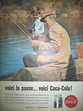 PUBLICITE DE PRESSE COCA-COLA SODA VOICI LA PAUSE FRENCH AD 1960