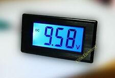 DC 0-19.99V Blue Large LCD Battery Indicator Monitor Voltage Meter Updated New