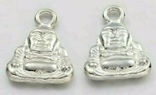 10 Tibetan Silver Buddha  Buddhist enlightenment Charm Double-sided  Ag46