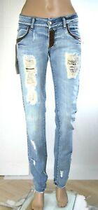 Jeans Donna Pantaloni MET Italy SA228 Affusolato Blu Tg 26 28 veste piccolo