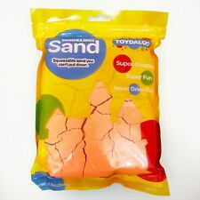 Toydaloo Motion Sand Play Sand for Kids, 2 lb. Refill Package (Orange)