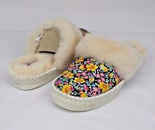 UGG AUSTRALIA AIRA LIBERTY SHEEPSKIN ANTIQUE WHITE SLIPPERS WOMENS SIZE 5 US