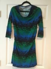 Patagonia Blue, Green & Black Floral Athletic Dress, Size Small