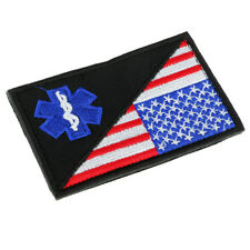 Star of Life Paramedic EMT EMS Army Tactical Morale Badge Hook Loop Patch 2#