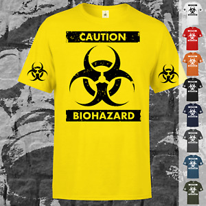 CAUTION BIOHAZARD T-Shirt Virus Beruf Firma Fun Sprüche Schule Spaß Arbeit Kult