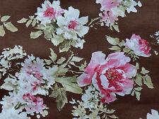 Romantik Rosen Stoffe Shabby Landhaus Rosenstoffe rosa braun mocca Bezugsstoffe