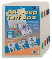 Quality A4 Tuff Boxes Deep and Slim  for Storage, Filing Documents Box Files