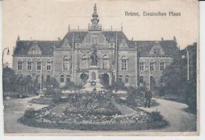 Carte Postale Tchécoslovaquie Brno Deutsche Maison Avec Zensur