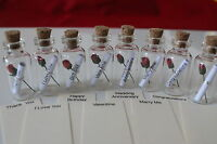 Small Glass Message in a Bottle Gift. Mother, Wedding, Birthday, Love, Marry.