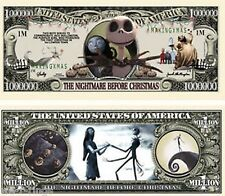 Nightmare Before Xmas $1,000,000 Bill Note