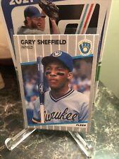 New listing 1989 Fleer  Gary Sheffield #196 RC Rookie Card Brewers HOF