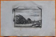 VAN DER AA Gravure originale c1725 VUE DE GRENOBLE Dauphiné Isère Alpes