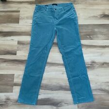 Talbots Size 12 Straight Leg Flawless Five Pocket Corduroy Pants Blue Cords