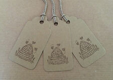10 Handmade Tags Honey Jar Labels Bees Beehive Wedding Favours Sweet Gift Tags