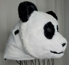 Panda Bear Head:  Halloween Costume, Mascot, Cosplay, Adult Sized Plush Faux Fur