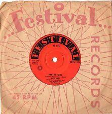 "BURL IVES - PRETTY GIRL - RARE 7"" 45 VINYL RECORD - 1957"