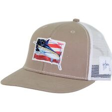 8c79be2a803d5 Guy Harvey Prancer Fishing Boat Trucker Hat Cap Mens One Size Adults..Khaki