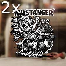 2x Stück Mustanger Ed Roth Aufkleber Sticker Rat Fink Hemi Mopar V8 MOON